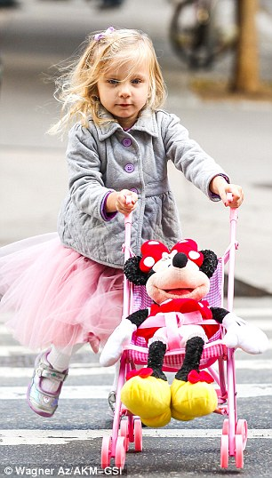 Tiny dancer: The little blonde had worn a frilly ballerina outfit to school