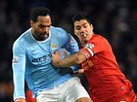 On his way: Joleon Lescott looks set to leave Manchester City on loan this month