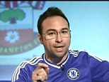Bitter and Twisted: Jason Cundy ranted against Liverpool fans while hosting Chelsea TV
