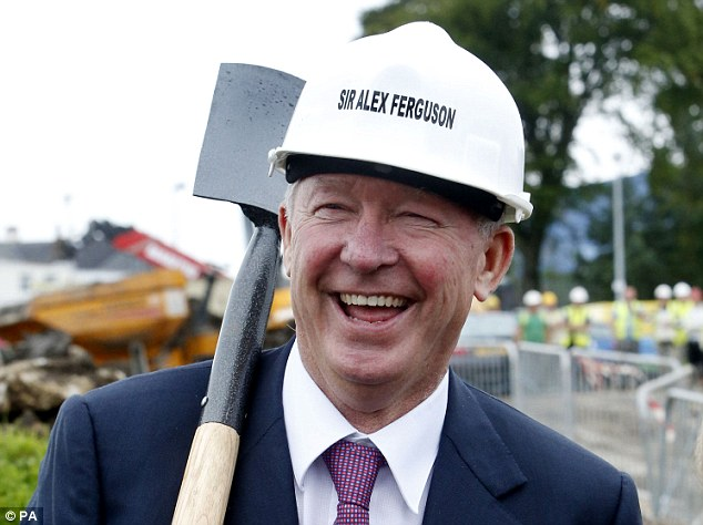 New beginnings: Sir Alex Ferguson digs the first square metre for foundations of a new wing at an East Kilbride hospice