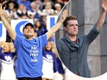 What a homecoming! Josh Hutcherson is all smiles as he is greeted by the Hunger Games mockingjay salute in Kentucky