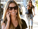 Cali cool: Audrina Patridge looked effortlessly chic as she stopped by a watch store in West Hollywood, California on Thursday