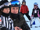 Does Mason Disick have a girlfriend? Kourtney Kardashian's son, aged four, is seen charming up Kyle Richards' daughter Portia, aged five, during ski run