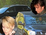 Sean Penn and Charlize Theron leave her home in separate cars the night after returning from Hawaiian holiday together