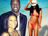 Moving on! Gabrielle Union puts fiance Dwyane Wade's love child drama behind her as they ring in 2014 together in Barbados