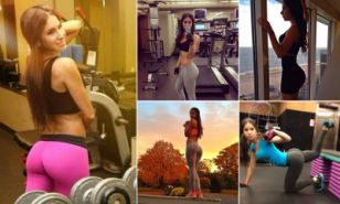 Jen Selter, 20, from New York City, has amassed more than 1.3 million followers on her account, after posting poses from her workout and yoga sessions.