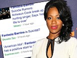 Setting it straight: Fantasia Barrino on Thursday posted a message on Instagram refuting rumours that she's suicidal
