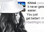 'It never gets easier, you just get better!': Khloe Kardashian posts inspirational message as she faces new year with neither Lamar Odom... nor Matt Kemp