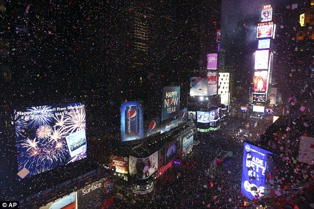 Confetti will fly over New York's Times Square after the clock strikes midnight during New Year's Eve celebrations, just don't go thinking that means America has turned 2014
