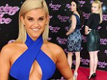 No-one's looking at the contestants: All eyes on Dancing On Ice judge Ashley Roberts in figure-flaunting electric blue dress