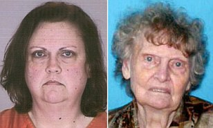 Kelly Rhodes (left), 49, was sentenced to 3 to 15 years in prison for dumping the body of her mother, 89-year-old Mary Grania (right) outside a Michigan thrift store last March