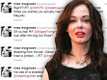 Rose McGowan tweets her rage after witnessing elderly man get punched by 'evil guy' playing depraved 'knockout' game