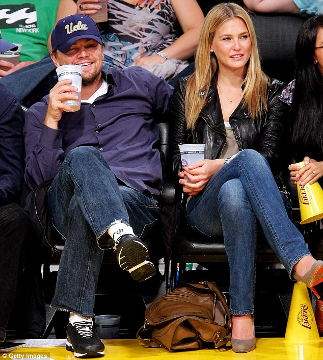 In his world, she lasted for eons: The Israeli supermodel and the actor, seen here at a Lakers game in 2010, dated for six years