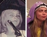 Throwback Thursday: Cara shared this split snap on Instagram, claiming she hasn't changed since childhood