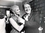 Elizabeth Jane Howard pictured with one of her three husbands, Sir Kingsley Amis. The pair divorced in 1983