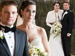 Former Disney star Christy Carlson Romano wears strapless Lazaro gown to tie the knot with fiancé Brendan Rooney