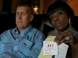 Slighted: U.S. Army Sgt Major Samuel Aarons, who is white, and his wife, Candea, who is black, say they couldn't believe their eyes when they saw the words 'jungle fever' scrawled on their valet parking ticket