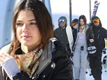 A budding snow-mance! Kendall Jenner and Harry Styles pictured hitting the slopes together during amorous getaway