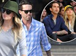 She did it her way: Kaley Cuoco hits the stores with husband Ryan Sweeting... before cheering on their team at a basketball game