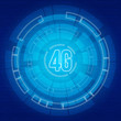 Blue background with the 4G digital elements of  communications
