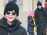 Meg Ryan and daughter Daisy wear puff-ball snow hats to combat New York's Winter Storm Hercules