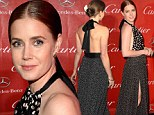 Bringing sexy back! Amy Adams cuts a striking figure in backless spotty gown at the Palm Springs Film Festival