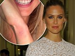 'I finally did it!' Bar Refaeli unveils a tiny white butterfly tattoo... but insists it will be her 'first and last' inking