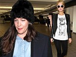 From A to Z-List: Liv Tyler dresses down in grungy outfit at LAX while Paris Hilton tries to grab attention in heels and sunglasses