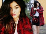 Kylie Jenner rocks tartan top for sushi and vows to cut more of her long locks on Saturday to 'let go of stress'
