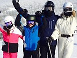 Snow better way to kick off 2014! Catherine Zeta-Jones and Michael Douglas celebrate New Year together on family ski trip