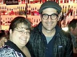 A very Modern Family: Actor Ty Burrell poses with Constance Anne Anast who asked Burrell to be a witness at her same-sex wedding in Utah