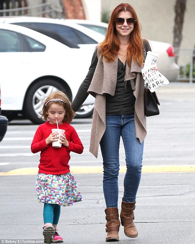 Girls' day out: Actress Alyson Hannigan and daughter Satyana were spotted sharing some quality time together in Brentwood, California, on Thursday