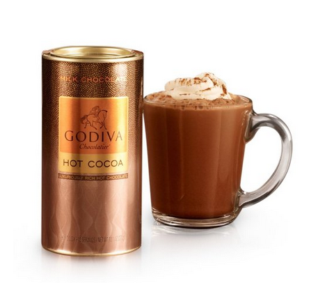 GODIVA Chocolatier Milk Chocolate Hot Cocoa Canister