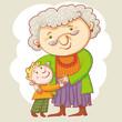 Grandma And Grandson.