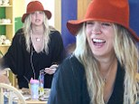 Marriage clearly suits her! Newlywed Kaley Cuoco can't keep the smile off her face as she paints pottery with friends