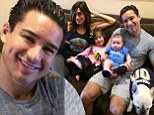 Family feud! Mario Lopez's cute family picture also reveals how they're on opposite teams ... as far as football goes