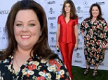 Blooming lovely! Melissa McCarthy wears bold floral dress to Variety party, while Marisa Tomei wows in poppy-red silk