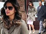 Suffering for her fashion: Camila Alves braves the cold with bare legs as she steps out with husband Matthew McConaughey in New York