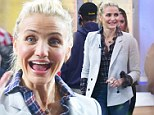 Rosy-cheeked Cameron Diaz has some early morning pizzazz as she promotes new health book on Good Morning America