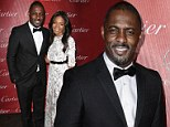 Looking good: Idris Elba was a big fan of his red carpet look as he tweeted about how great he looked in a bow tie at film festival