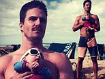 Making an entrance! Arrow star Stephen Amell posts topless picture of himself as he opens Instagram account