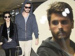 Kourtney Kardashian supports a grieving Scott Disick as he emerges for the first time following tragic loss of his father Jeffrey
