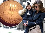 Stunning Miranda Kerr looks every inch the supermodel as she drops birthday boy Flynn off at his dad's house for an early celebration