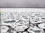 Freezing wind chills driving temperatures below zero have caused Lake Michigan in Illinois to freeze over, with the 'polar vortex' expected to glaciate other major waterways.