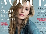 Not many models could get away with that! Georgia May Jagger looks relaxed but refined as she sports a denim jacket to cover Vogue