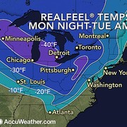 Wind Chill Forecast Map (Accuweather)