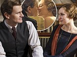 SPOILER ALERT: Giving in to temptation! Lady Edith kisses married Michael Gregson in Downton Abbey's fourth series premiere