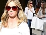 Shopping for two! Pregnant Emily Blunt preps for her arrival for her baby with a little retail therapy