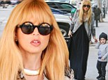 Mommy and me: Rachel Zoe got to spend some quality time with her first-born, Skyler Morisson, out and about in Beverly Hills on Monday