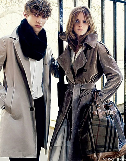 Emma Watson in a Burberry trench coat